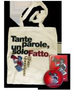 """Borsa, magnete e spilla de """"Il Fatto Quotidiano"""""""